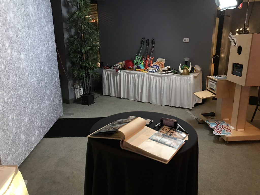 Photo Booth Complete Set Up For A Wedding